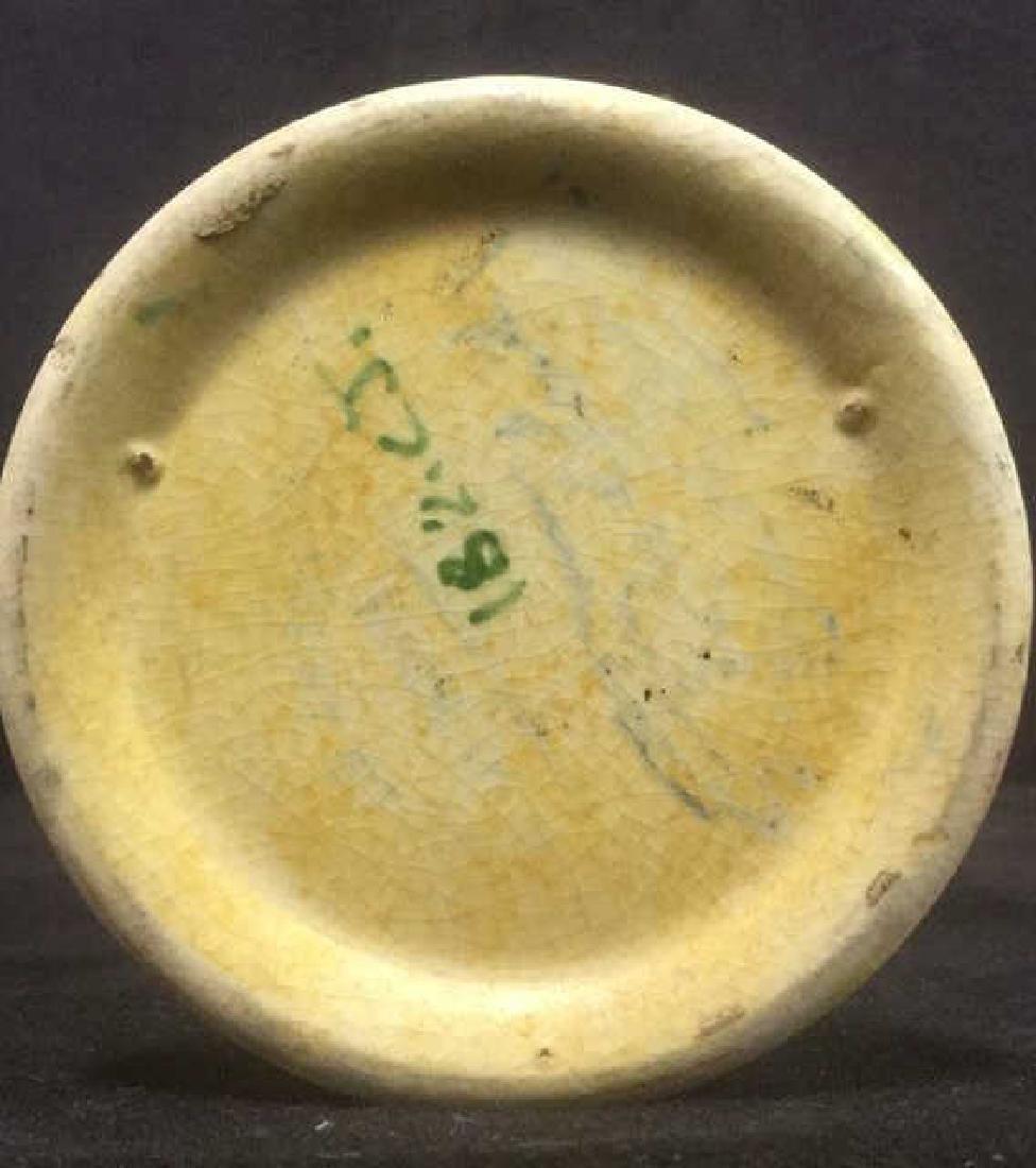 Ceramic Floral Detailed Painted Vase - 6