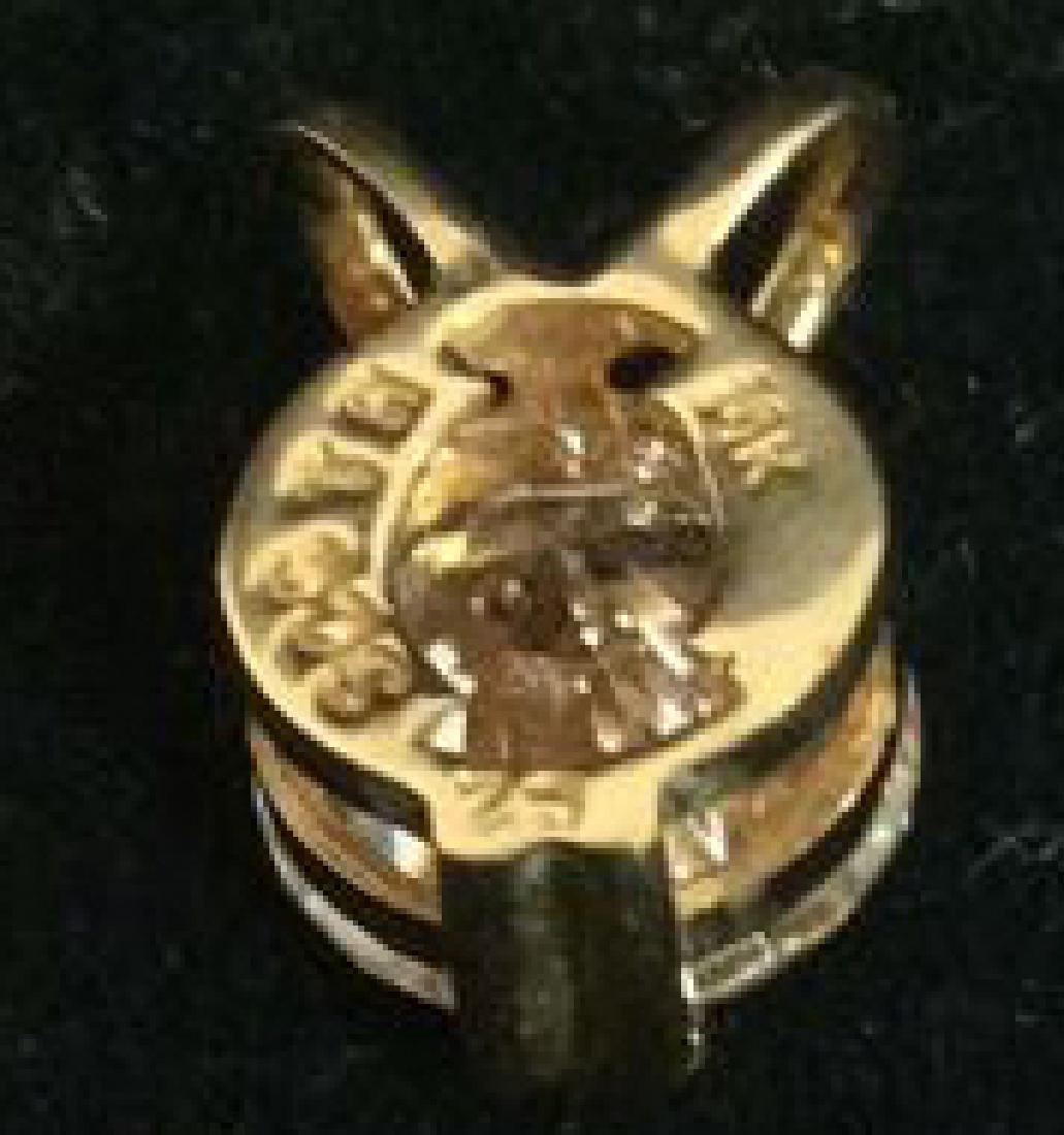 14K Gold Pendant W Cubic Zirconia - 6
