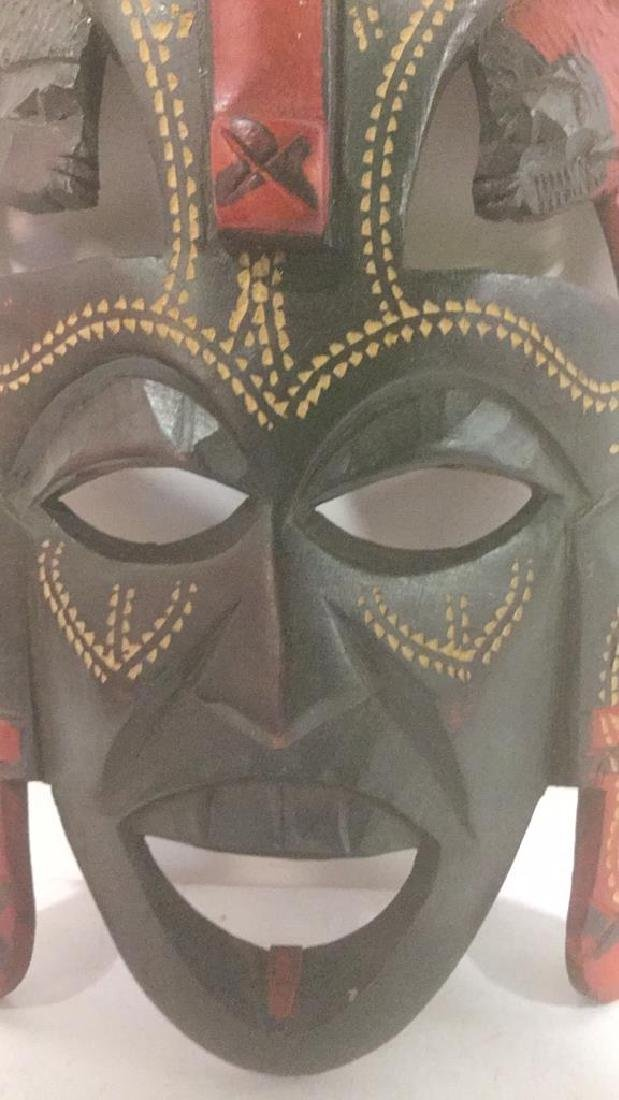African Style Carved Wooden Mask - 2