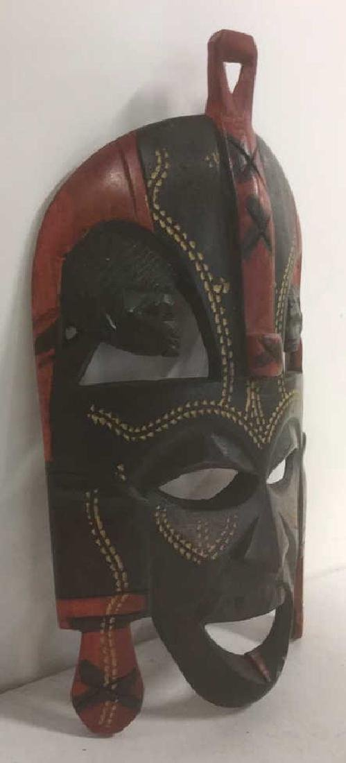 African Style Carved Wooden Mask - 4