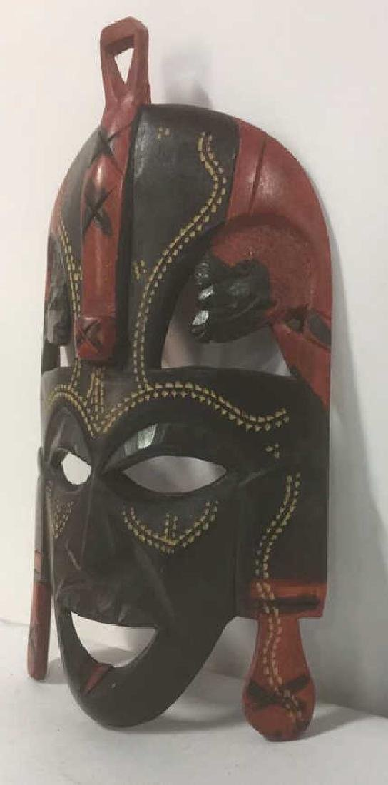 African Style Carved Wooden Mask - 5
