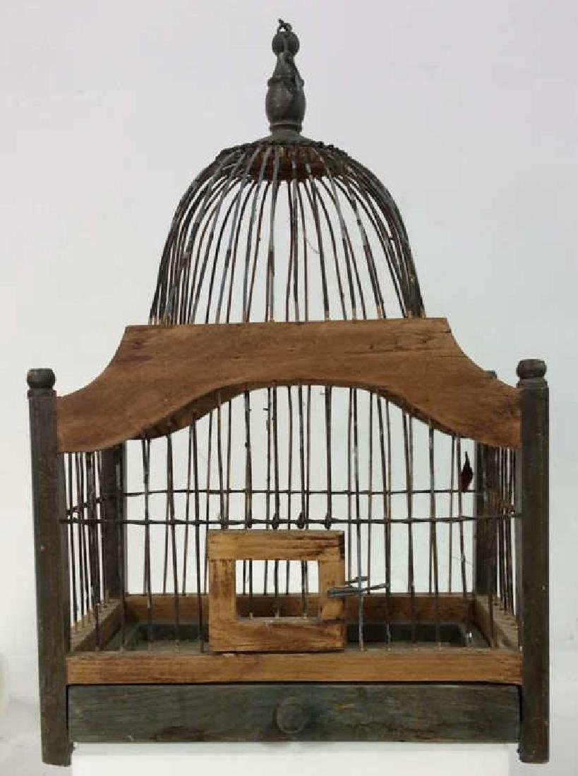 Decorative Wood and Metal Bird Cage
