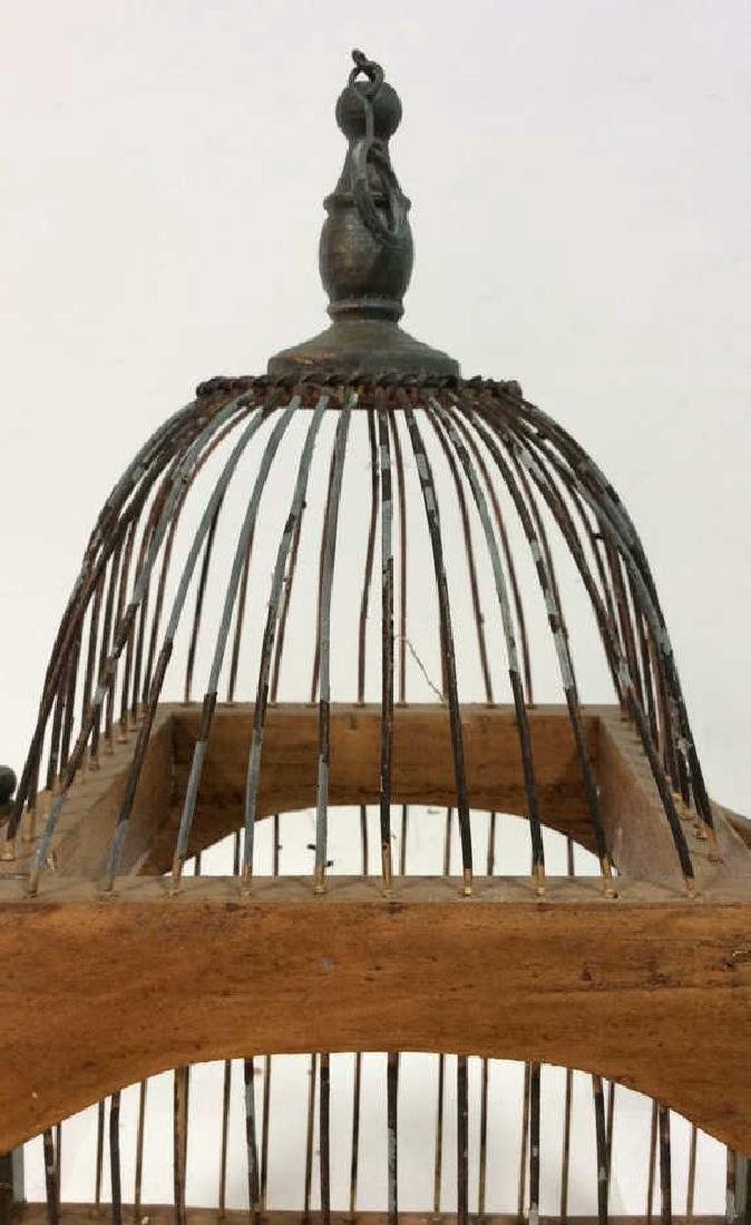 Decorative Wood and Metal Bird Cage - 3