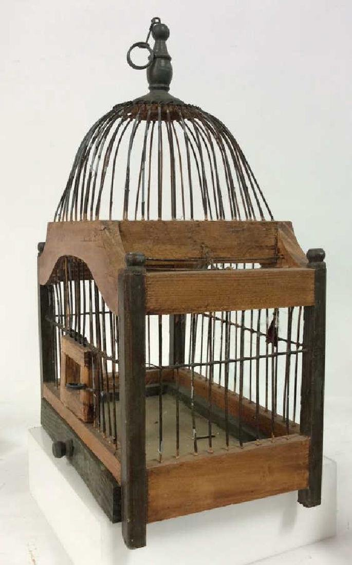 Decorative Wood and Metal Bird Cage - 4
