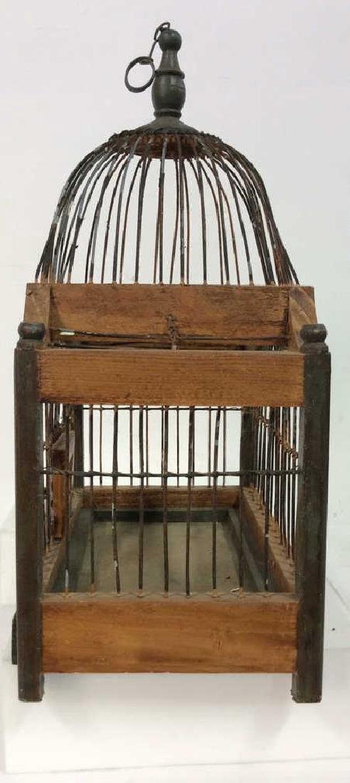 Decorative Wood and Metal Bird Cage - 5