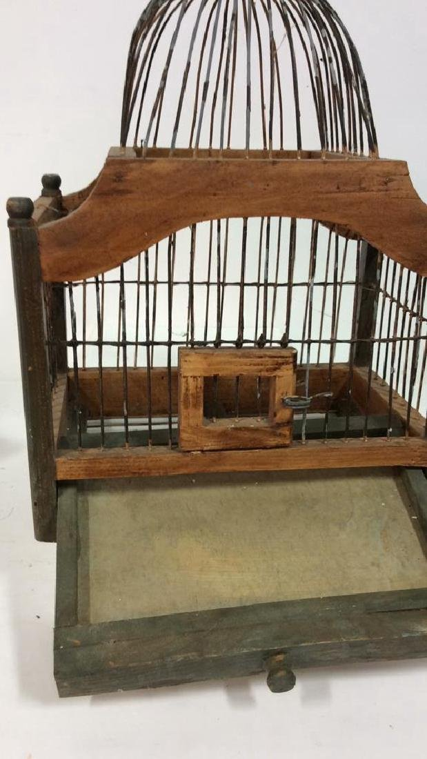 Decorative Wood and Metal Bird Cage - 6