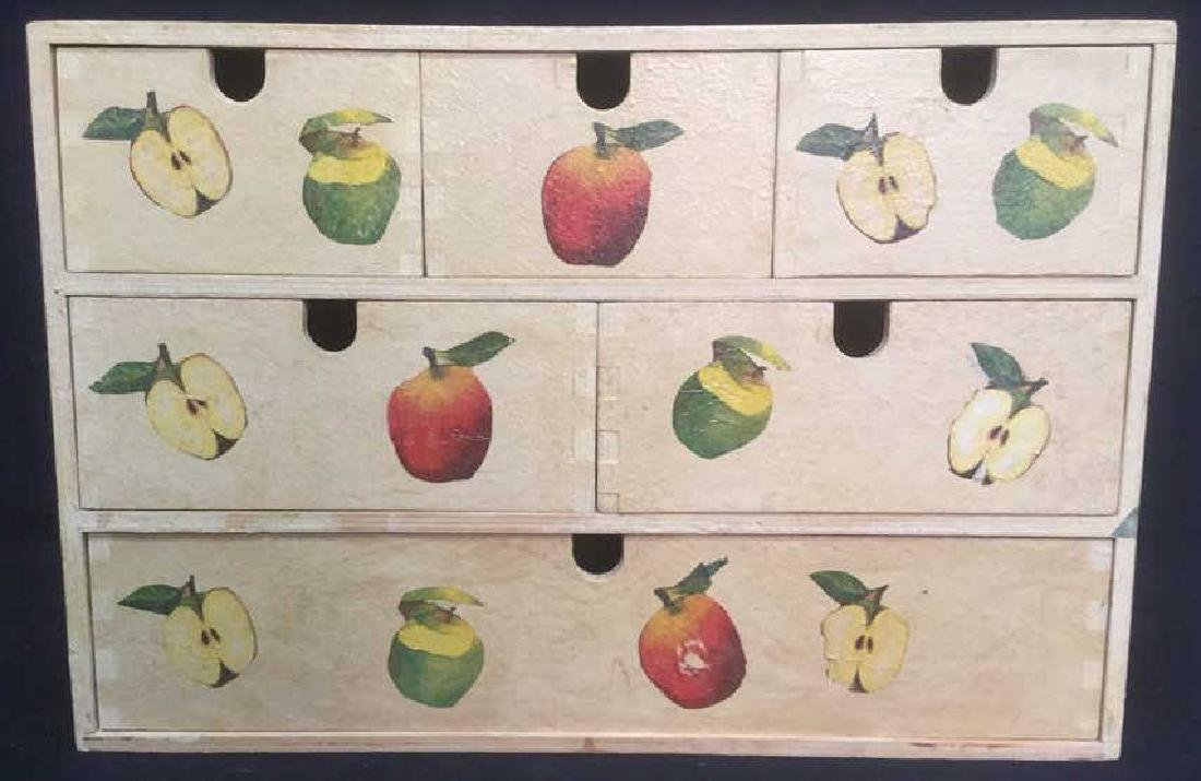 Wooden, Fruit Detailed Jewelry Box