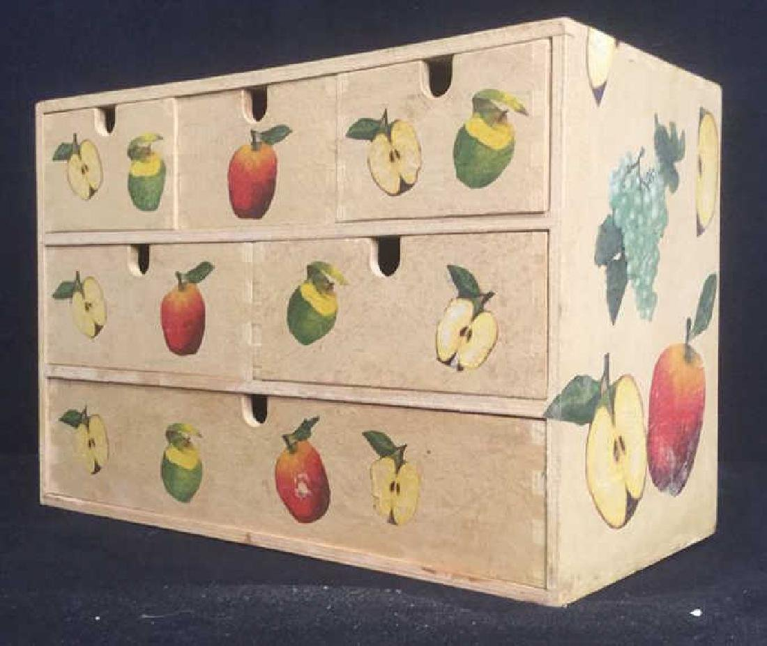 Wooden, Fruit Detailed Jewelry Box - 3