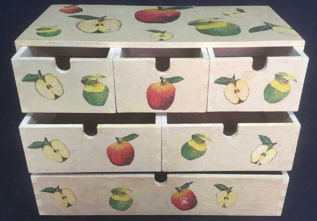 Wooden, Fruit Detailed Jewelry Box - 5