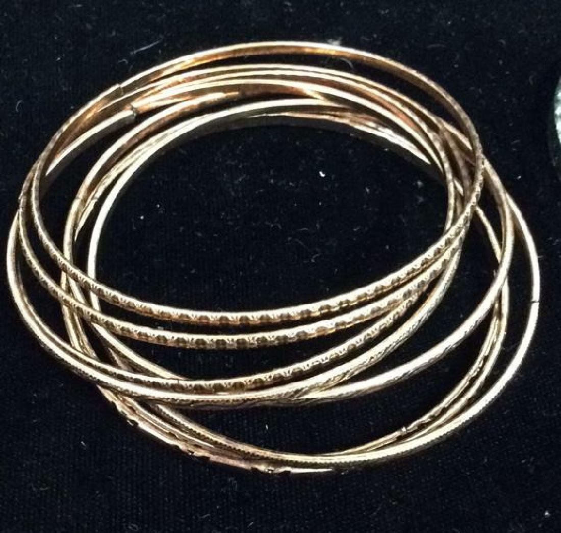 Lot 24 Thin Metal Bangle Bracelets Jewelry - 3