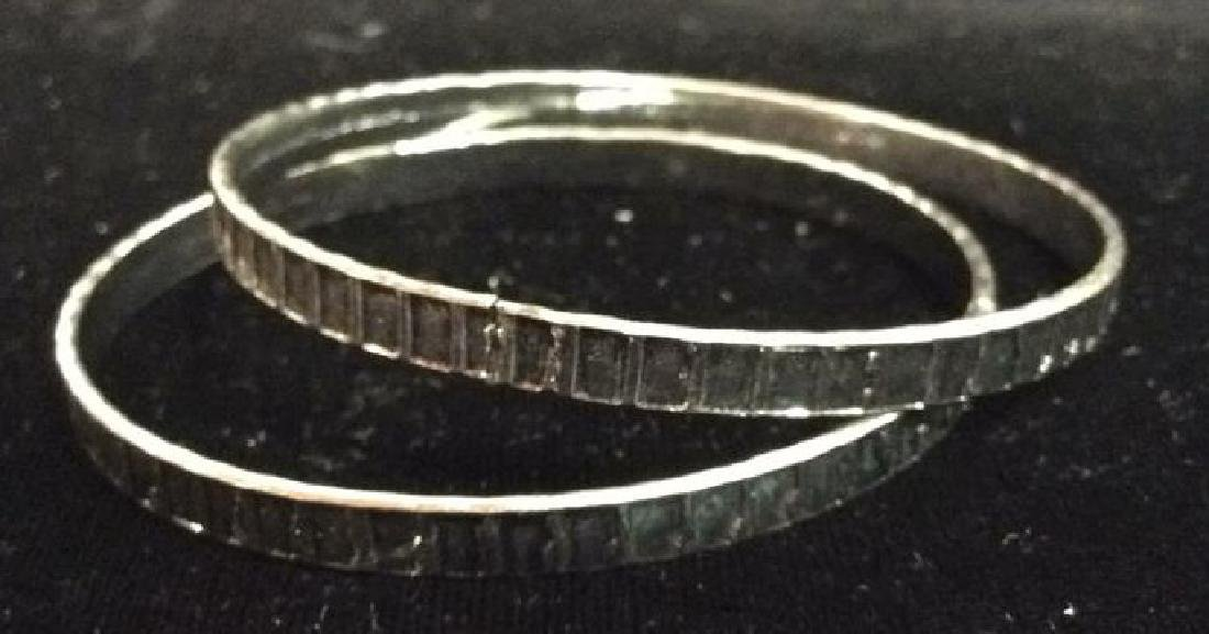 Lot 24 Thin Metal Bangle Bracelets Jewelry - 4