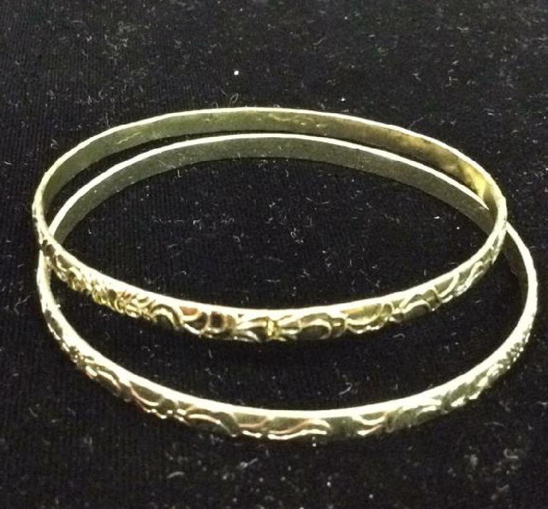 Lot 24 Thin Metal Bangle Bracelets Jewelry - 5