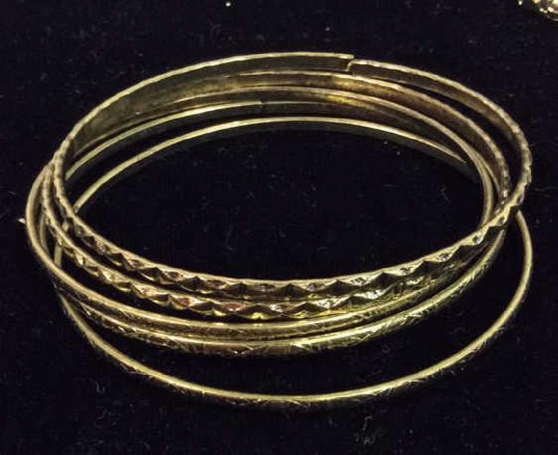 Lot 24 Thin Metal Bangle Bracelets Jewelry - 6