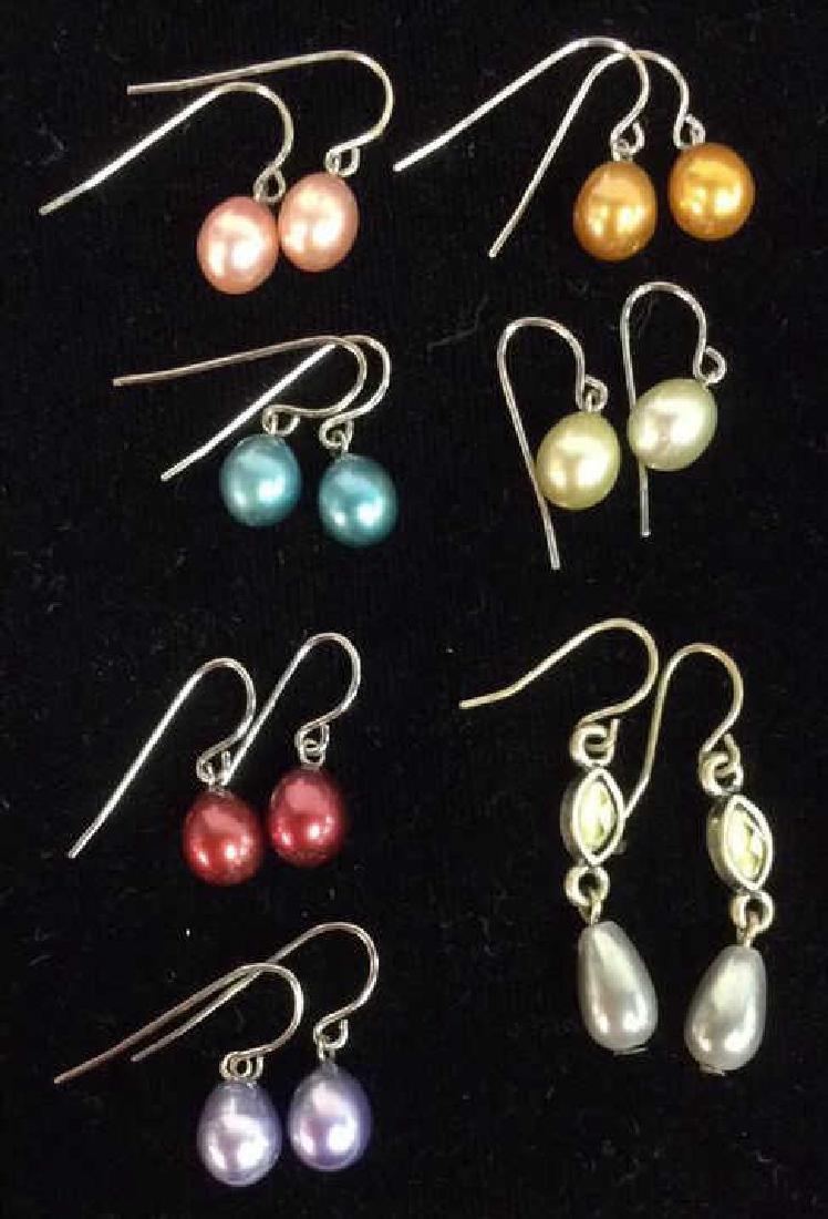 Lot 7 Pairs of Pearl Earrings Vintage Jewelry