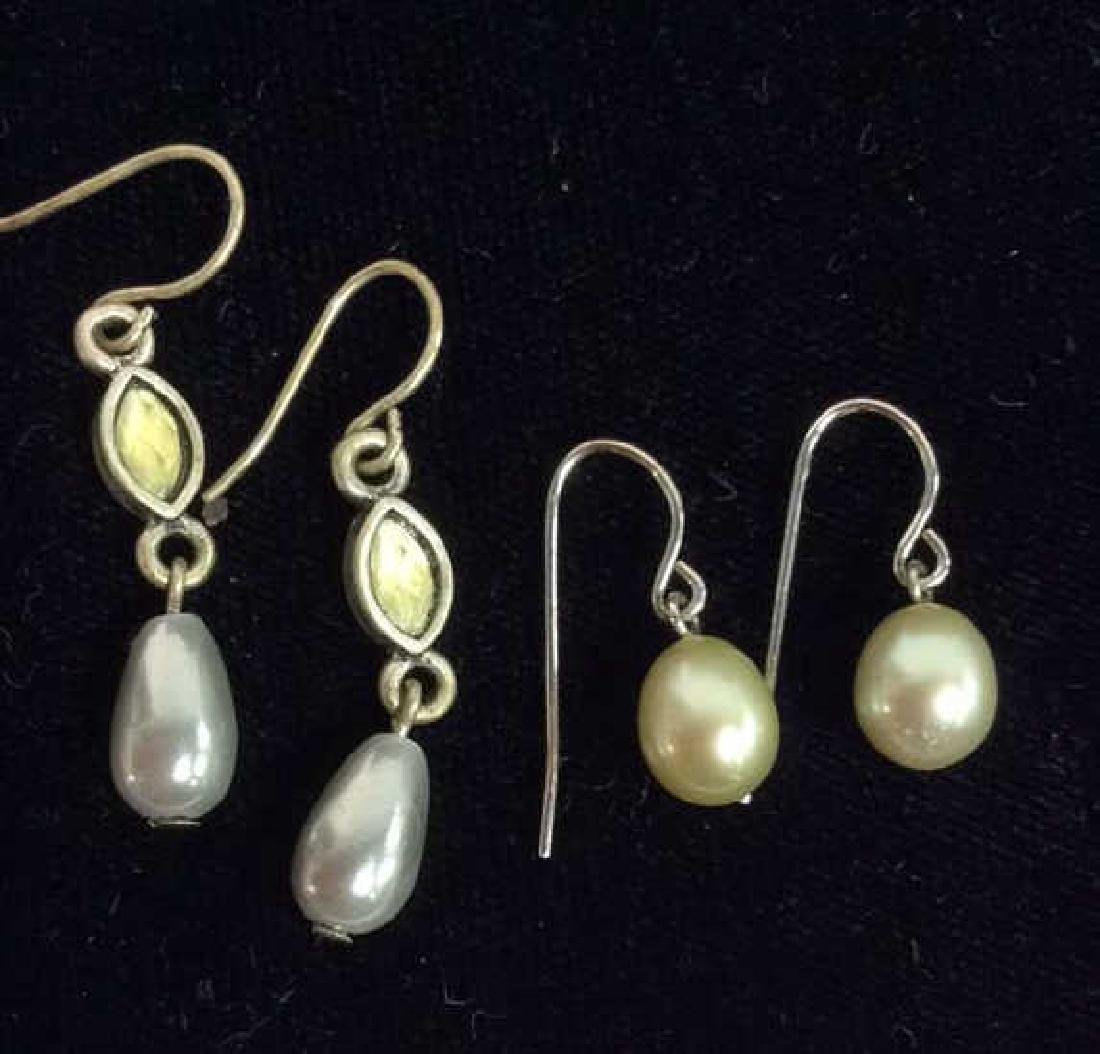 Lot 7 Pairs of Pearl Earrings Vintage Jewelry - 3