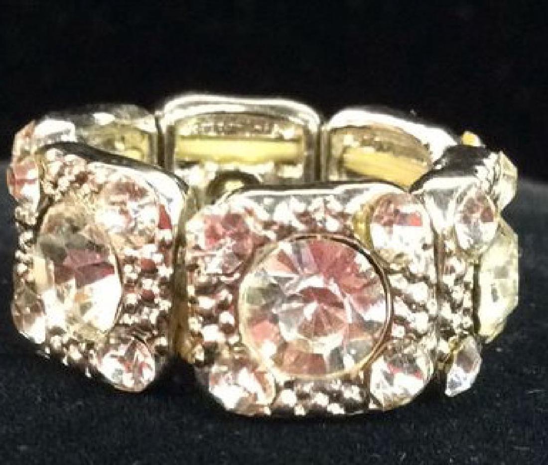 Lot 2 Rhinestone Jewelry Pieces - 5