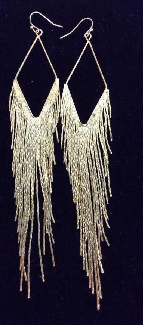 Lot 3 Pairs of Gold Toned Metal Earrings - 2