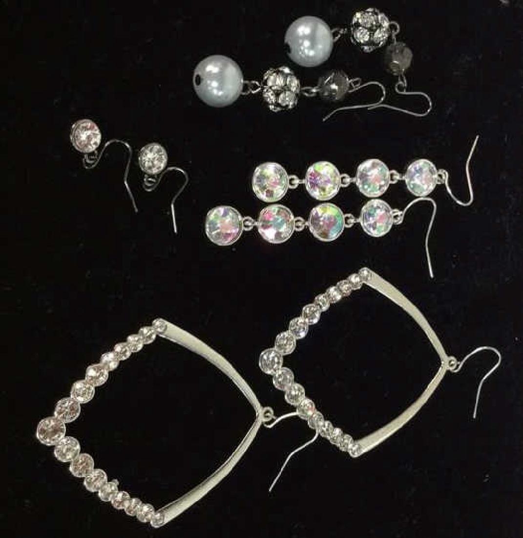 Lot 4 Assorted Women's Rhinestones Jewelry
