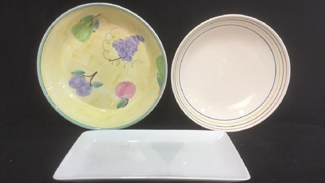 Lot 3 Miscellaneous Serving Dishes, Ital