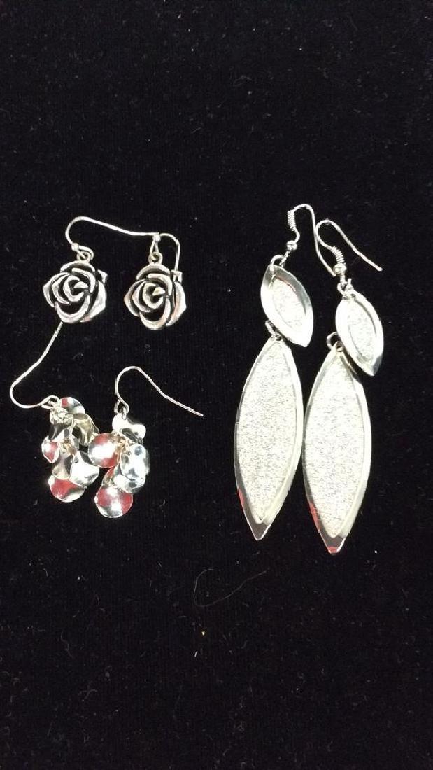 Lot 3 Silver Toned Metal Estate Jewelry