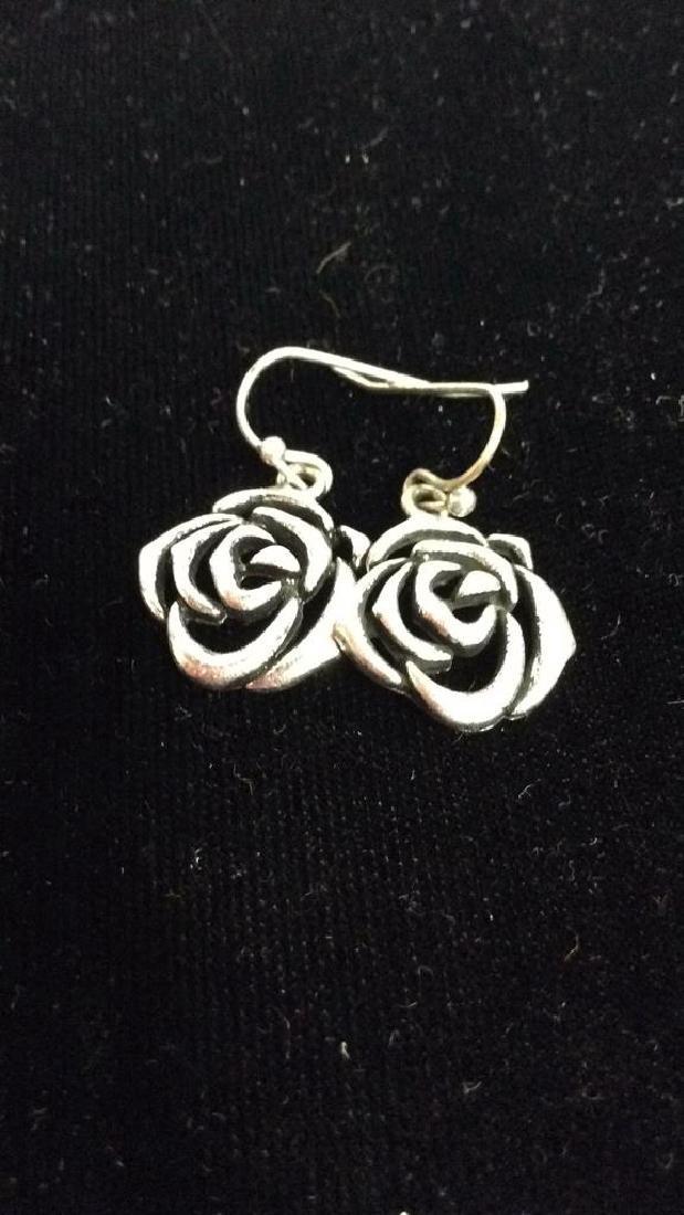 Lot 3 Silver Toned Metal Estate Jewelry - 5
