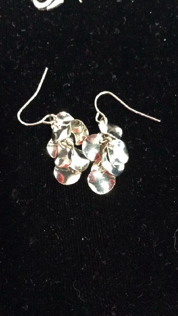 Lot 3 Silver Toned Metal Estate Jewelry - 7