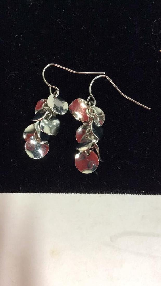 Lot 3 Silver Toned Metal Estate Jewelry - 8