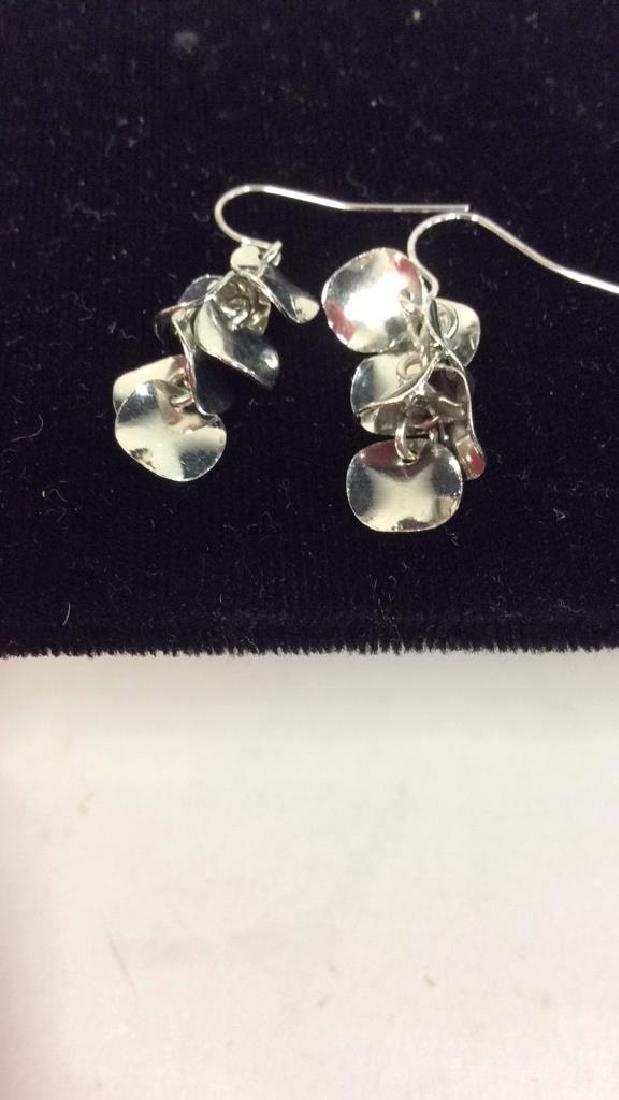 Lot 3 Silver Toned Metal Estate Jewelry - 9