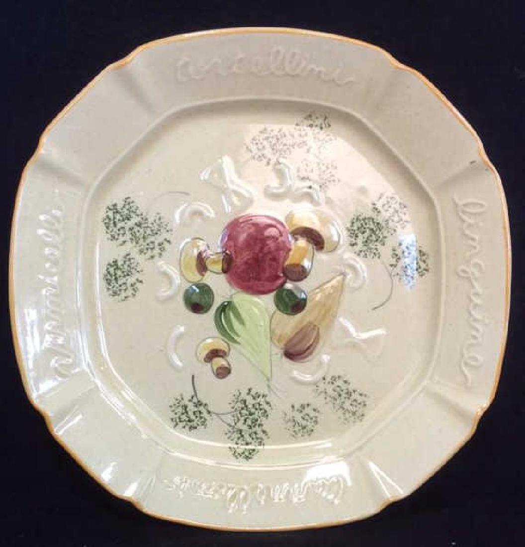 DESIGNCRAFT Painted Ceramic Serving Platter