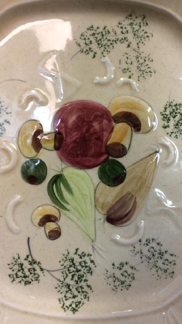DESIGNCRAFT Painted Ceramic Serving Platter - 3