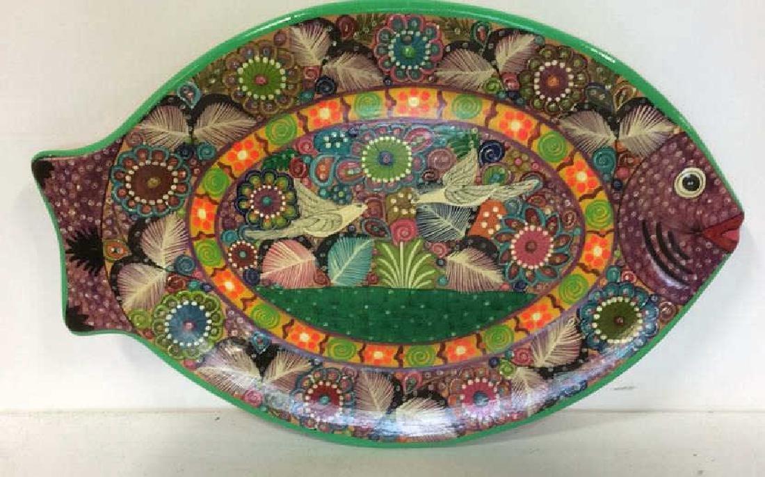 ISABEL ACAPULCO, GRO MEXICO Ceramic Fish Plate