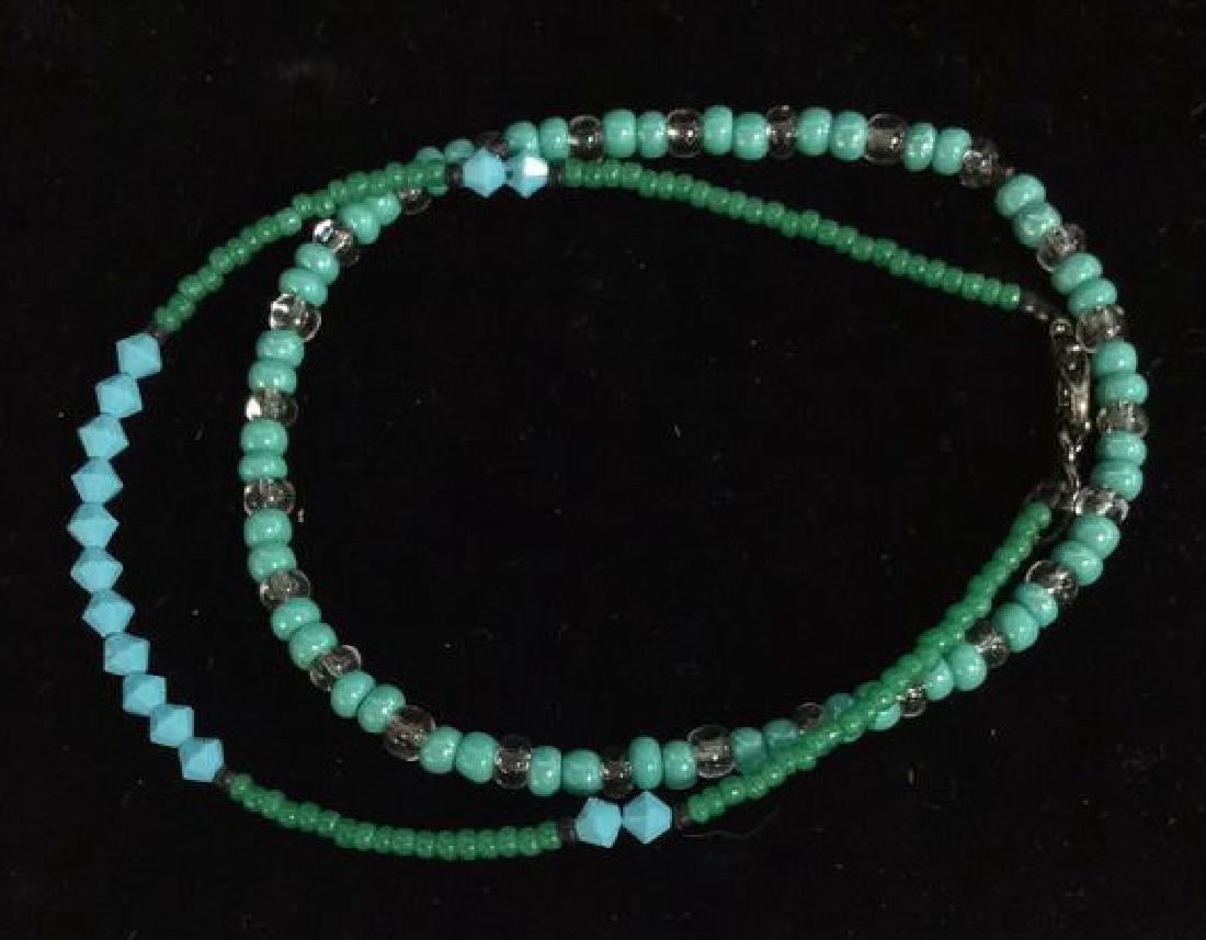 Lot 4 Beaded Bracelets & Watch Jewelry - 5