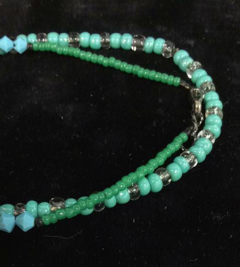 Lot 4 Beaded Bracelets & Watch Jewelry - 6