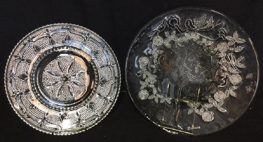 Lot 2 Depression Glass Platters