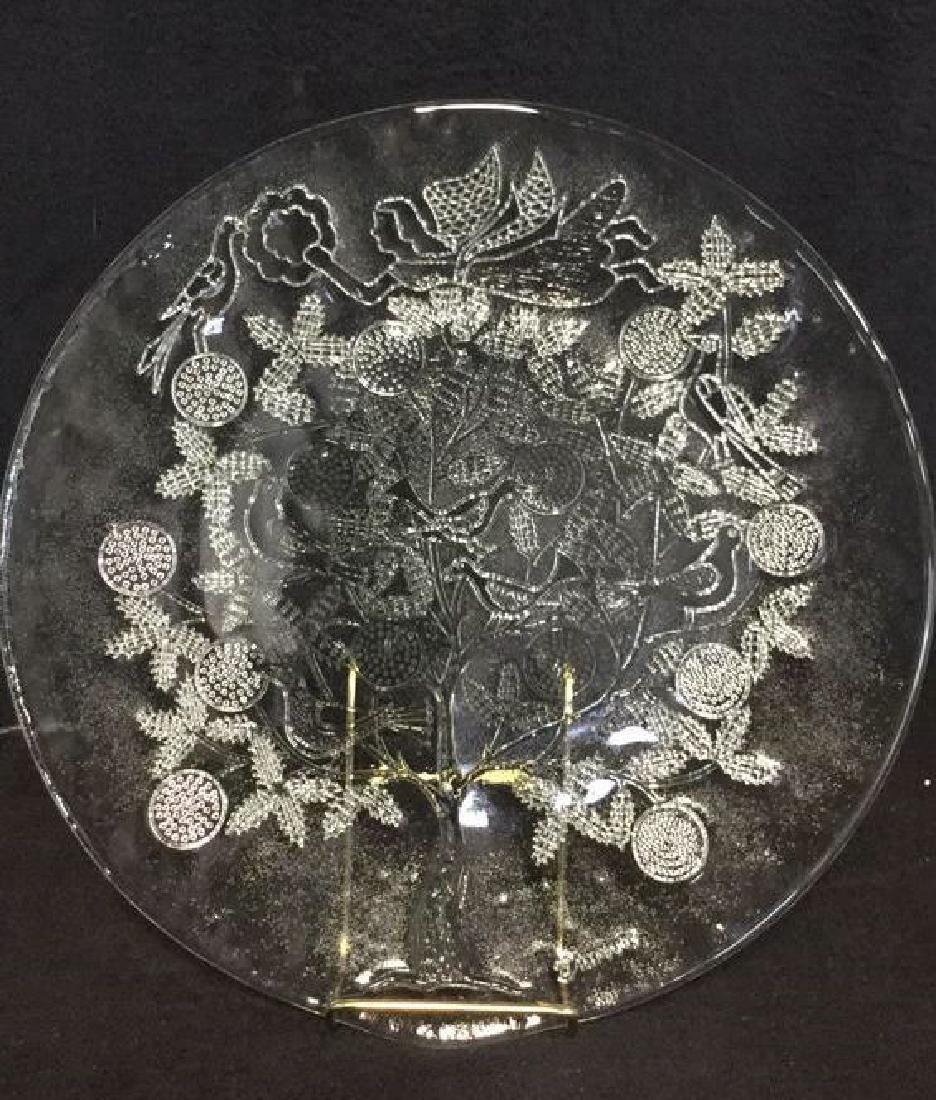 Lot 2 Depression Glass Platters - 2
