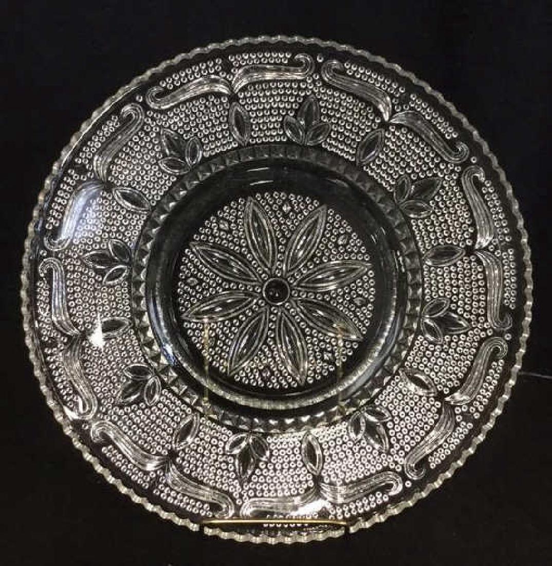 Lot 2 Depression Glass Platters - 6