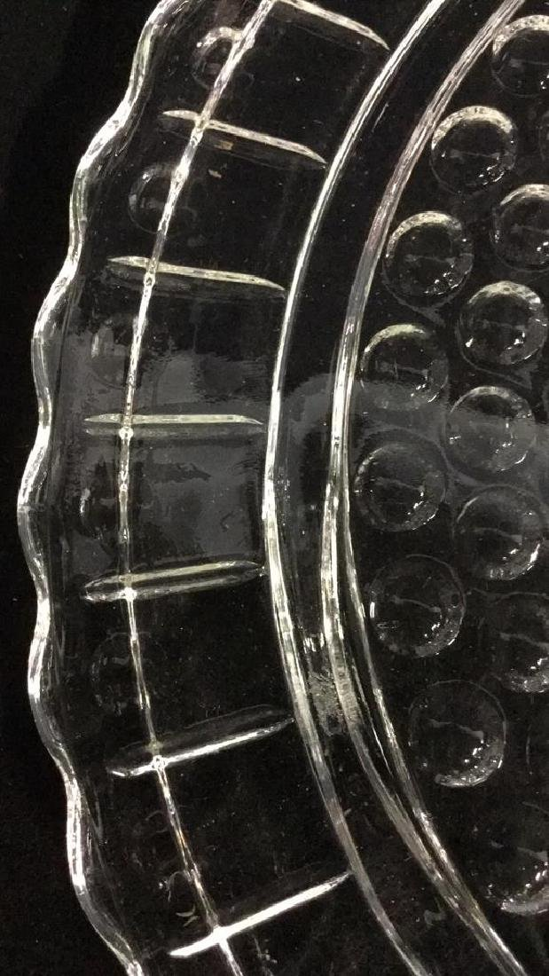 Lot 2 Vintage Green And Clear Depression Glass - 8