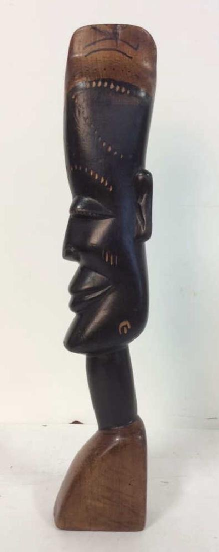 Carved Wooden Tribal Style Sculpture - 3