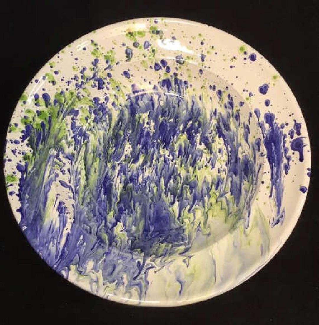 Ceramic Glazed Platter Bowl By Lamas