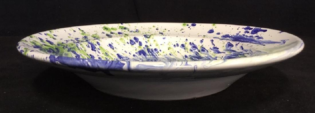 Ceramic Glazed Platter Bowl By Lamas - 5