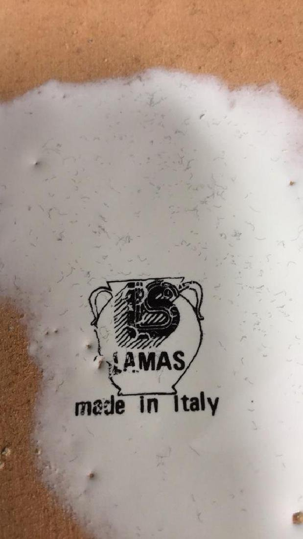 Ceramic Glazed Platter Bowl By Lamas - 7