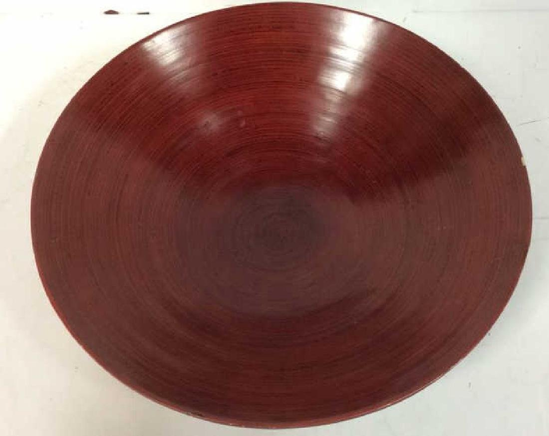Red Toned Wooden Centerpiece Bowl
