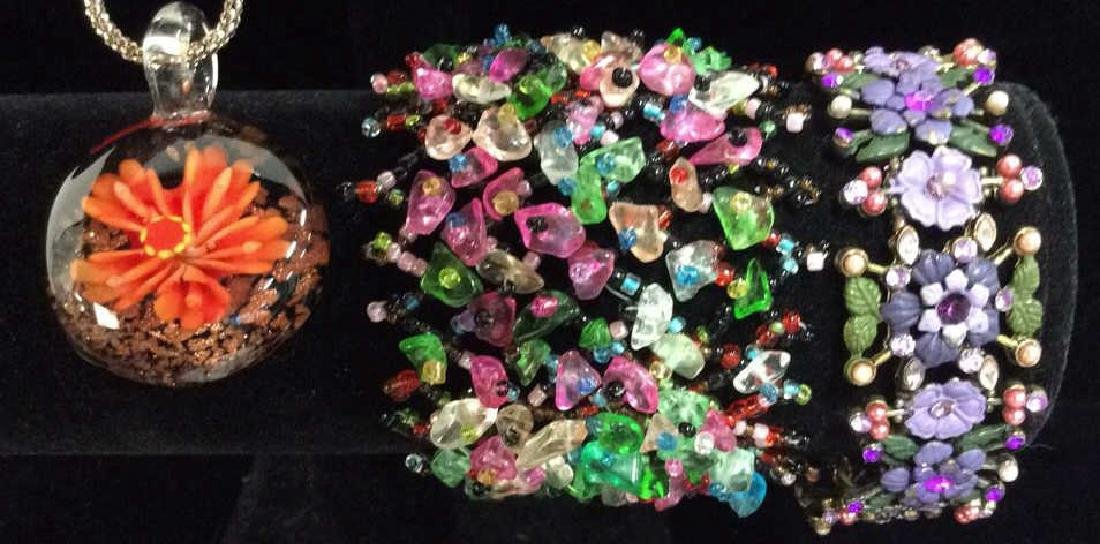 Lot 3 Assorted Beaded Floral Women's Jewelry - 10