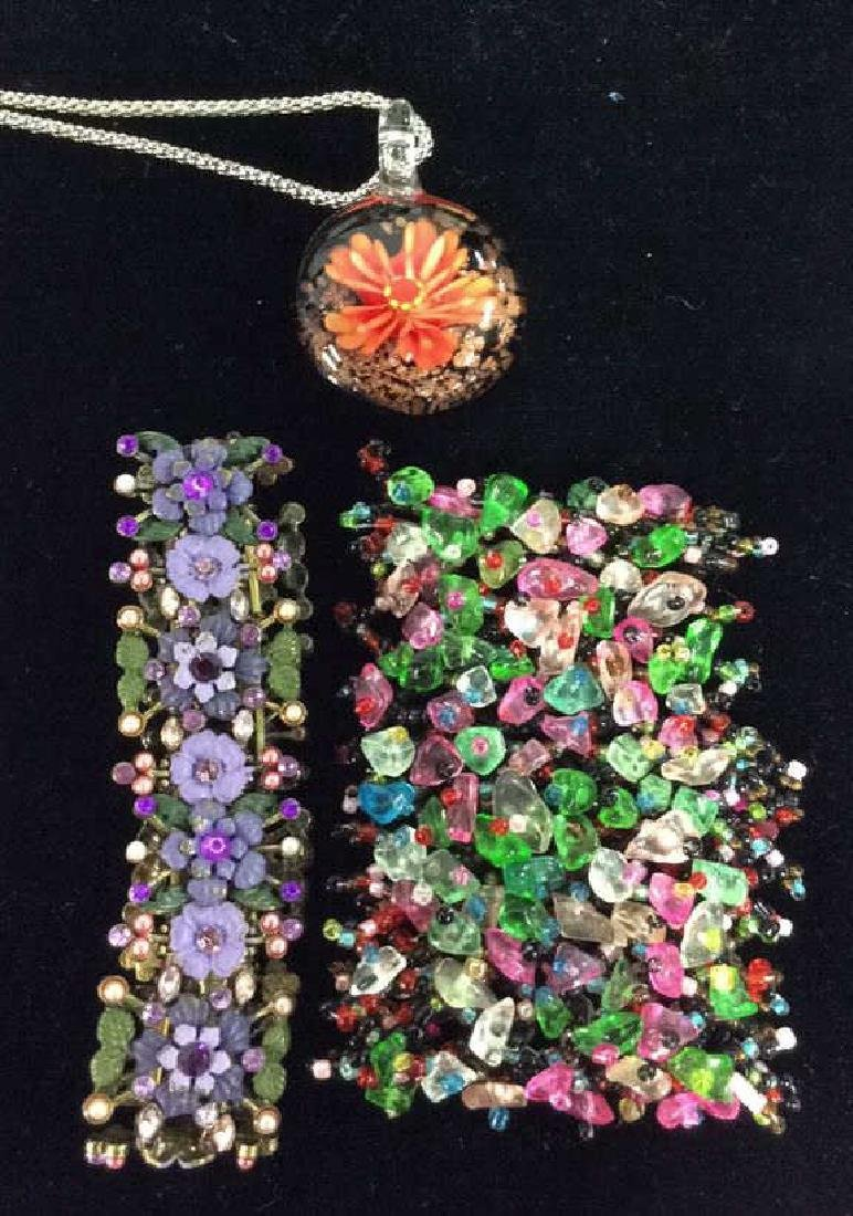 Lot 3 Assorted Beaded Floral Women's Jewelry