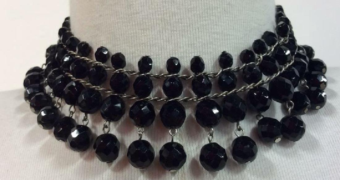 Lot 2 Women's Beaded Silver Toned Necklaces - 2