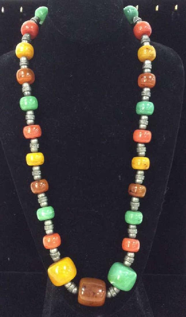 Chunky Beaded Necklace Jewelry