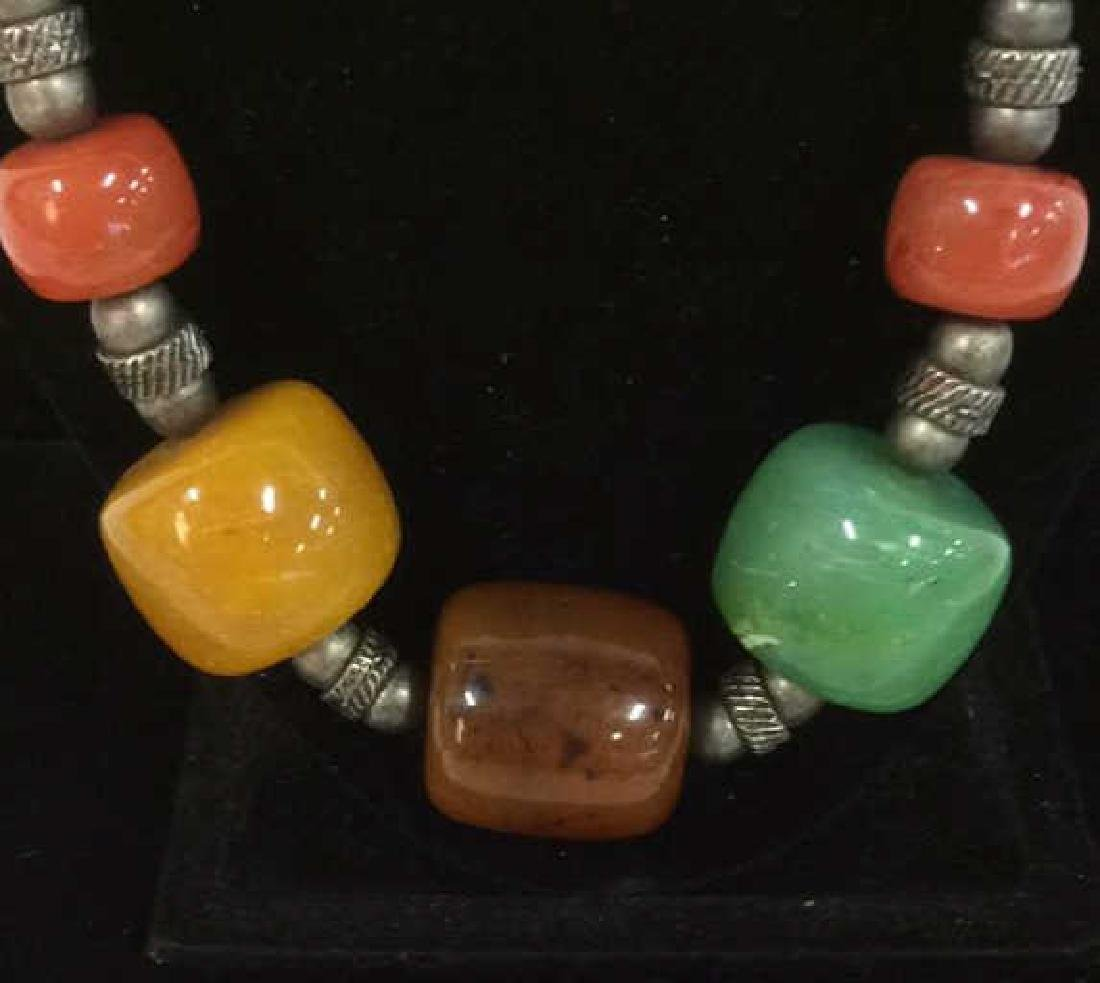Chunky Beaded Necklace Jewelry - 2