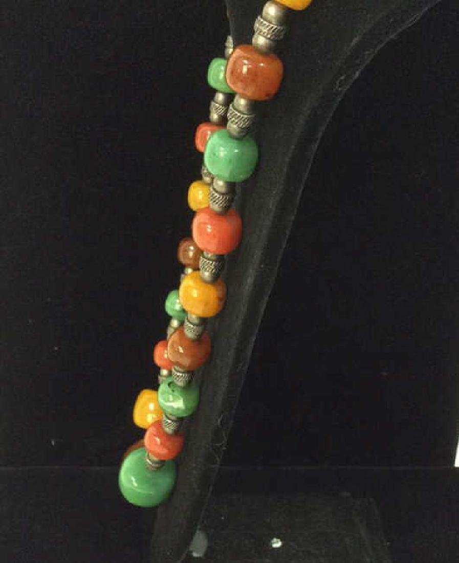 Chunky Beaded Necklace Jewelry - 3