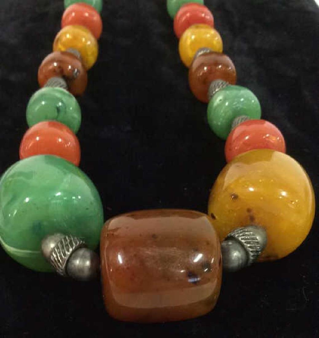 Chunky Beaded Necklace Jewelry - 5