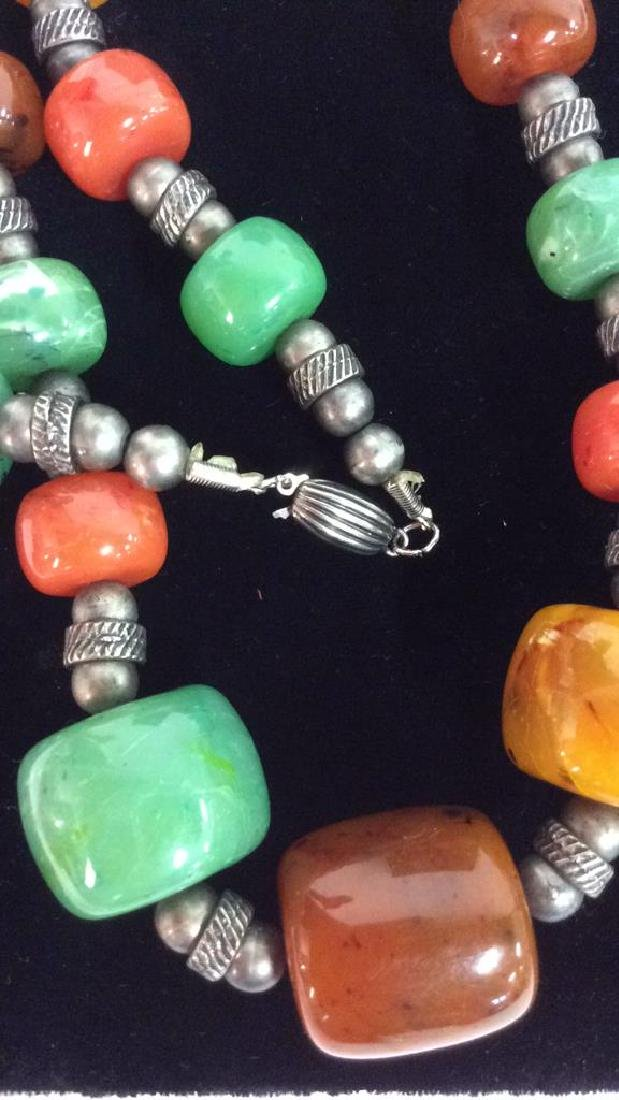 Chunky Beaded Necklace Jewelry - 6